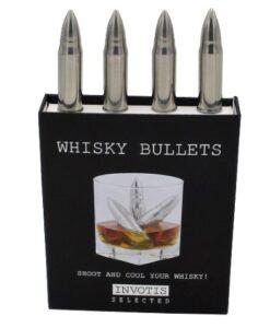 Invotis Whisky Bullets Set Van 4 roestvrij staal ijsklontjes staal