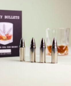 Invotis Whisky Bullets Set Van 4 roestvrij staal ijsklontjes staal sfeerfoto