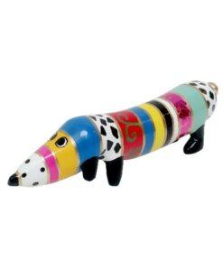 Niloc Pagen Hot Dog Rainbow Fantasy - Groot teckel kunst arteaux art and design