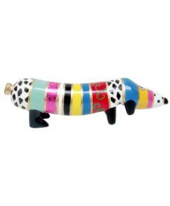 Niloc Pagen Hot Dog Rainbow Fantasy - Groot teckel kunst arteaux art and design zijkant