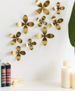 Umbra Metal Wallflower Wall Decor - Set Van 9 voorbeeld