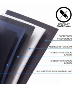 Bobby Compact Anti-Diefstal Rugzak Zebra xdesign specificaties snijvast materiaal