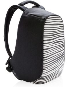 Bobby Compact Anti-Diefstal Rugzak Zebra xdesign zijkant