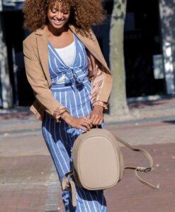 Bobby Elle Fashion Anti-Diefstal Rugzak Mocha xdesign anti-theft sfeerbeeld