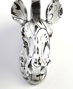 Aniwall Pomme-Pidou Zebra Ziggy beeld muurdecoratie zwart wit productfoto voorkant