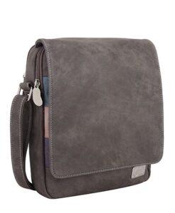 Hi-Di-Hi 2020 Najaarscollectie - Pack Schoudertas 2 Variaties dark grey purple zijkant flap