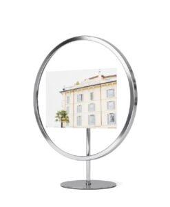 Umbra Infinity Floating photo display picture frame ronde Fotolijst zilver productfoto