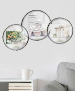 Umbra Infinity Floating photo display picture frame ronde Fotolijst zilver sfeerfoto muur