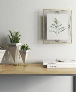 Umbra Prisma Groot 20x25 - Goud photo display fotolijst sfeerbeeld muur