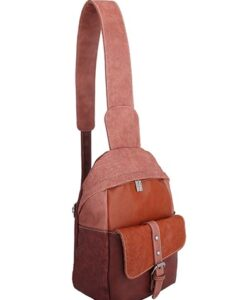 Noi-Noi 2020 Najaarscollectie - Olive Schoudertas_Cross-Body Bag 3 Variaties pink cognac zijkant
