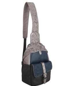 Noi-Noi 2020 Najaarscollectie - Olive Schoudertas_Cross-Body Bag 3 Variaties silver dark blue zijkant
