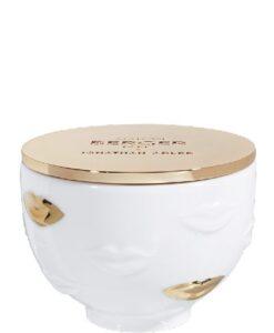 Lampe Berger Geurkaars Muse Jonathan Adler gouden deksel lippen porselein productfoto