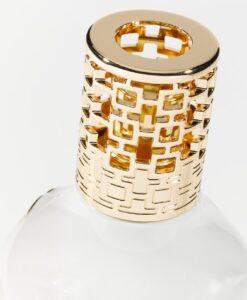 Lampe Berger Giftset Muse Jonathan Adler porseleinen brander muse lippen imperial green tea detail sierdop